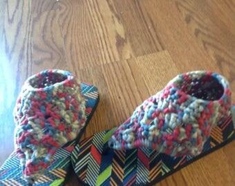 Nautical Short Gladiator Style Sandals - S (5/6)