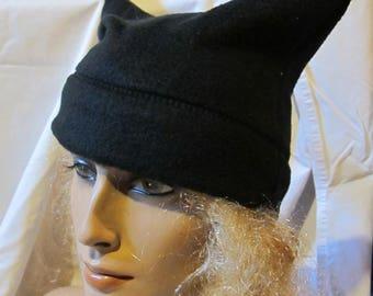 Black Fleece Kitty Ear Hat, Kitty Ear Beanie, Cat Ear Hat, Cat Ear Beanie, Cosplay Beanie, Pu**y Ear Beanie, Winter Hat