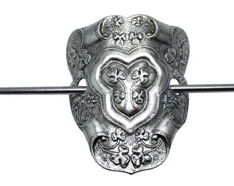 Scottish Clover Hair Stick Wedding hair accessories Clover and shield pony tail holder or shawl pin by MyElegantThings
