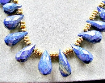 LAPIS, BRIOLETTS, TEARDROP,  Quality,  Blue, Strand, Sale, High End, Clean,