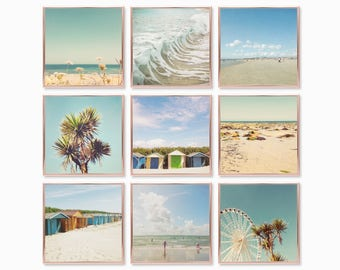 Mini Photo Prints, Print Set of 9, Sea Print Set - Summer By The Sea
