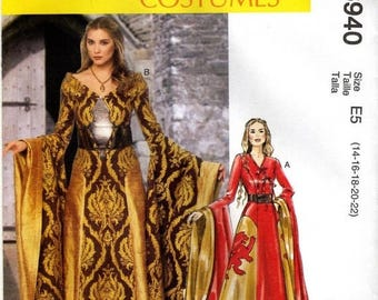 20% off Eclipse Sale MCCALL'S PATTERN 6940 Game of Thrones Costume-Size 6-14
