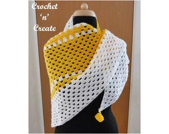 Crochet Granny Shawl Crochet Pattern (DOWNLOAD) CNC111