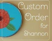 Custom Order Reserved Listing