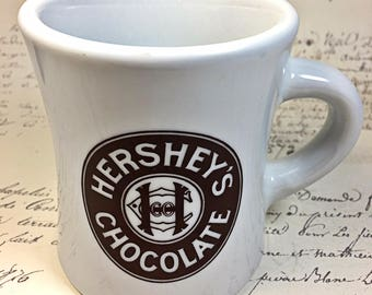 Hershey's Chocolate Restaurant style mug coffee pottery heavy duty
