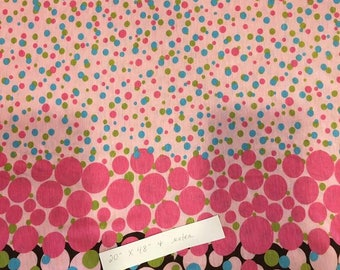Multiple Dots Knit Fabric with Border - Clearance