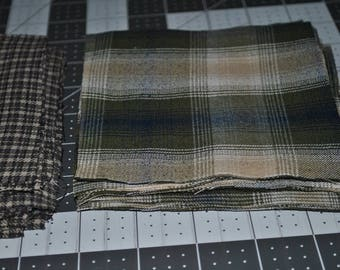 43 Squares 5 inches Each Men's Shirt Pieces Charm Pack Plaids