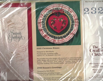 The Creative Circle Christmas Kisses Embroidery Kit 2322 #CS026