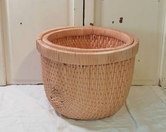 Vintage Nesting Baskets | Wicker Planters