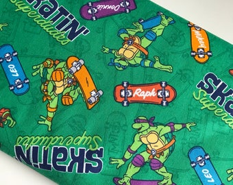 Teenage Mutant Ninja Turtles Skatin Cotton Woven By The Yard