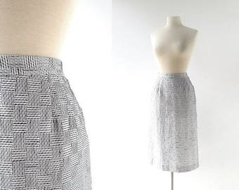 20% off sale Vintage 50s Skirt | Basket Weave | 1950s Skirt | 27W Small
