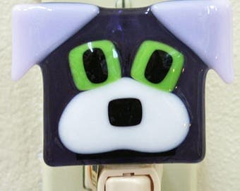 Glassworks Northwest - Dog Night Light Purple - Fused Glass Art