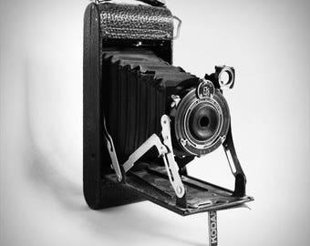 Antique Kodak Camera Original Black and White Photograph Home Decor Gift Icon