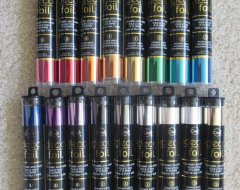 "Deco Foil Transfer Sheets 6"" X 12""; Lot of 17 Colors (5 sheets per package)"