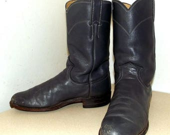 Sweet Roper style Justin brand Grey cowboy boots