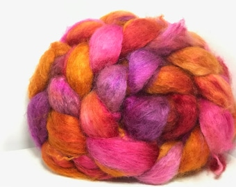 Spinning Fiber Cashmere/Bombyx 60/40 - 5oz - Red Cherry Chili Peppers 1