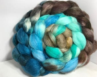 Spinning Fiber Merino SW/Bombyx/Mohair 70/15/15 - 5oz - Surf and Sky 1