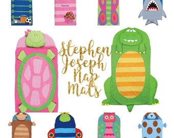 School Nap Mat  / stephen joseph personalized toddler blanket  / preschool napmat  / toddler napmat / nursery school NapMat