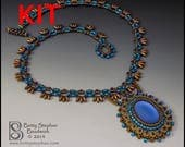 KIT- Blue Meadow Dance Necklace beadweaving bead embroidery