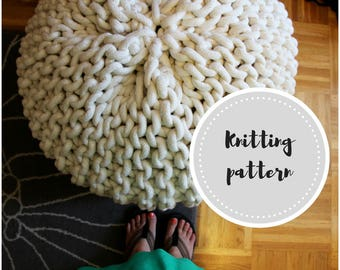 Giant pouf PDF pattern