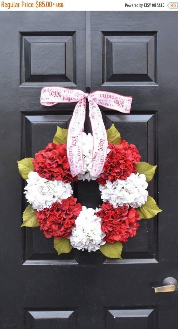 SUMMER WREATH SALE Valentine's Hydrangea Wreath- Hydrangea Wreaths- Ready to Ship- Spring Wreaths- Year Round Wreaths- Flower Wreaths- Chris