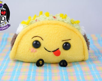 Tiny Funny Taco mischievous food plush