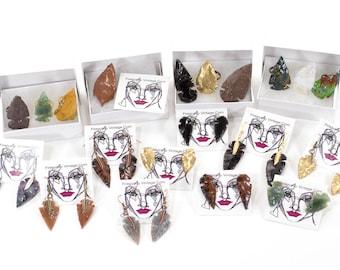 Arrowhead Necklace Stone Tribal Necklace Customizable