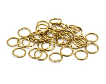 10mm Jump Ring - 200 Raw Brass Jump Rings (10x1mm) A0372