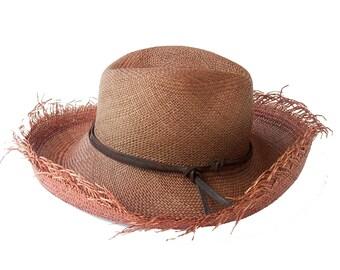 Fedora Hat Panama Straw Hat Boho Hat Men's Hat Women's Hat Western Hat Beach Hat Sun Hat Summer Hat Wide Brimmed Straw Hat