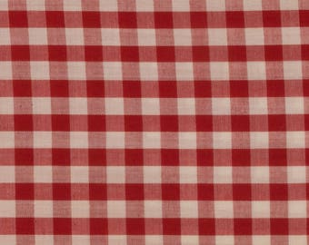 Red and white gingham Cotton, 42 inches wide Sold by the yard Quilting, Blouse, shirt, dress, Country Western, Shabby Chic