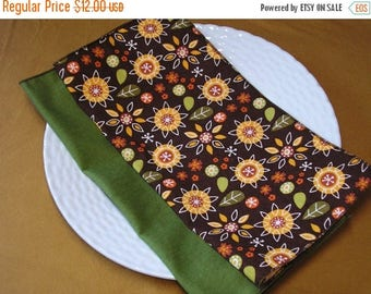 CLEARANCE SALE Cloth Napkins Geometric Floral Print Mixed Set of 6