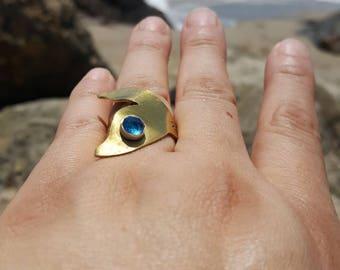 Mermaid tail brass ring gem version, Mermaid at heart, Mermaid ring, mermaid jewels,make waves ring, beach chic jewelry,Mermaid tail ring
