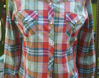 Deadstock 70s western pearl snap shirts rockabilly pinup bombshell grunge cowgirl