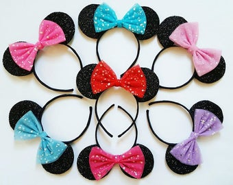 Design Your Own Disney Inspired Minnie Mouse Ears Minnie Mouse Headband Minnie Hair Bow Hen Night