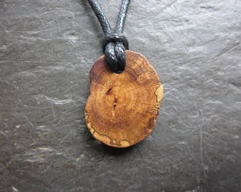 Rare Natural Wood Pendant - Gorse/Furze - for Passion.