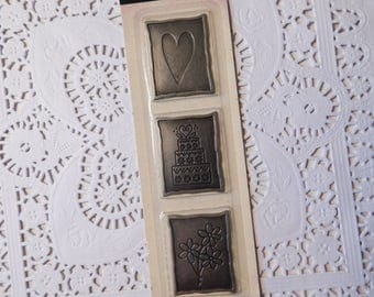 NIP Making Memories Mini Wedding Plaques - Arts and Crafts and Scrapbook Pages