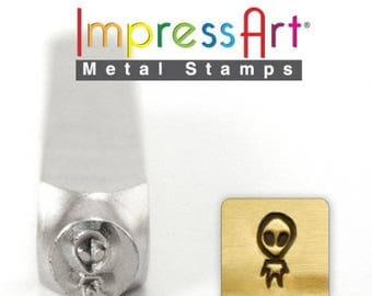 Alien Metal Design Stamp 5mm wide and 6mm high - ImpressArt