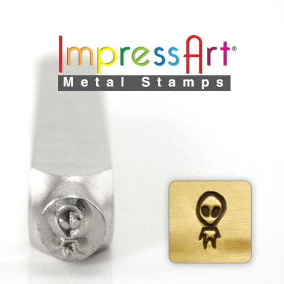 Alien Metal Design Stamp 5mm wide and 6mm high - ImpressArt