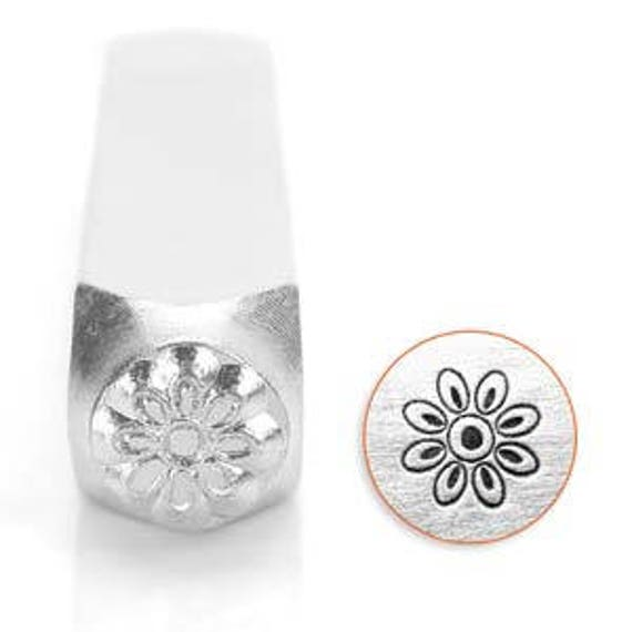 Blossom Flower Metal Design Stamp 6mm wide and 6mm high - Metal Punch - ImpressArt