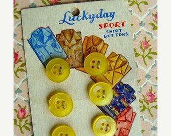 ONSALE Antique 1940s Button set on Original Card