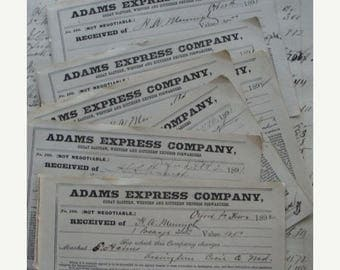 ONSALE BIG SALE 1800s Gorgeous Antique Numbered Express Forwarders