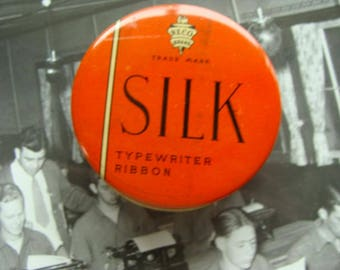 ONSALE Vintage Silk Typewriter Ribbon Tin