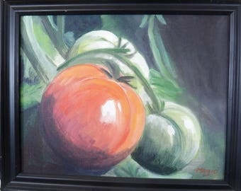 Tomatoes with frame