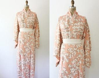 vintage silk kimono / 1950s kimono / Kousa Kimono
