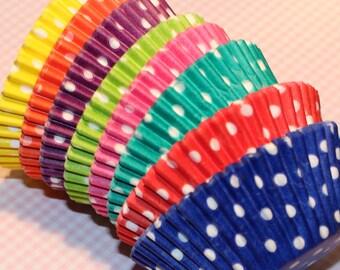 Rainbow Brites Polka Dot Cupcake Liner Party Pak (Qty 80) Rainbow Brites Polka Dot Baking Cups, Rainbow Cupcake Liners, Rainbow Baking Cups