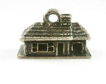 Vintage Sterling Silver House Charm