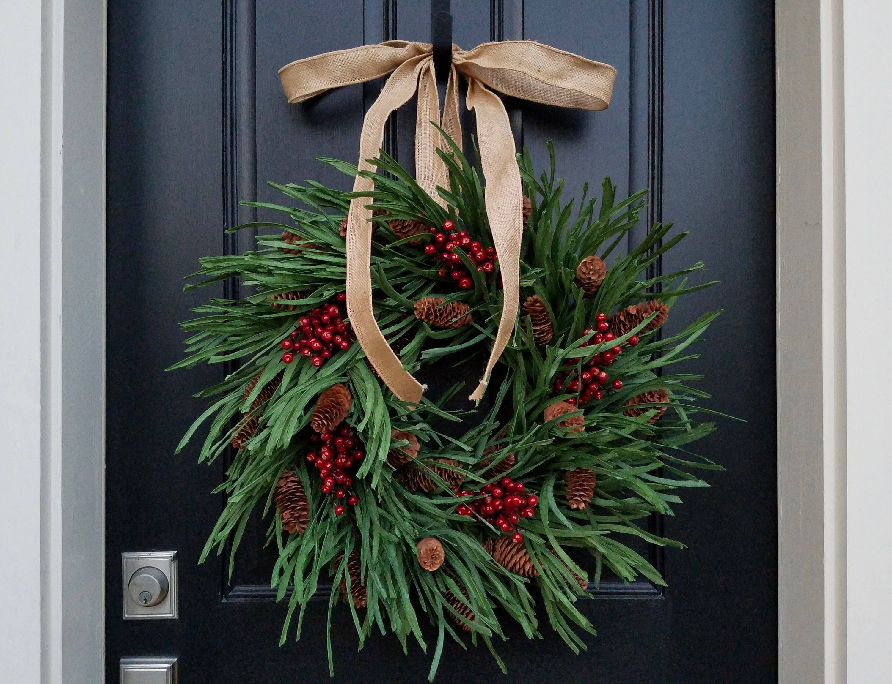 Front door christmas wreaths -  Zoom