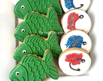 Fishing cookies 1 dozen