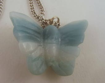 Butterfly Pendant necklace jewlery Amonzonite