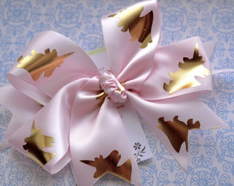 Pale Pink with Golde Unicorn XL Diva Bow